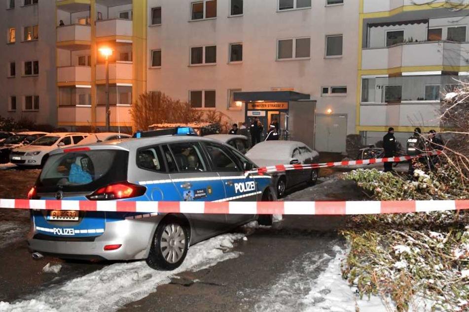 In einem Plattenbau auf der Ribnitzer Straße fand der tödliche Polizeieinsatz statt.