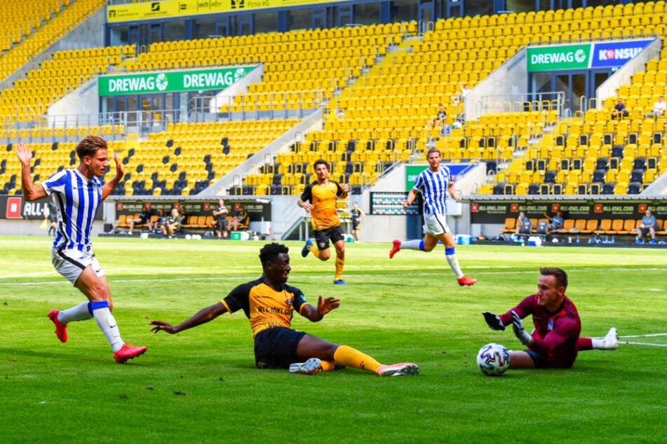 Dynamo Dresden kann darauf hoffen, bald wieder vor Zuschauern im Rudolf-Harbig-Stadion spielen zu dürfen.
