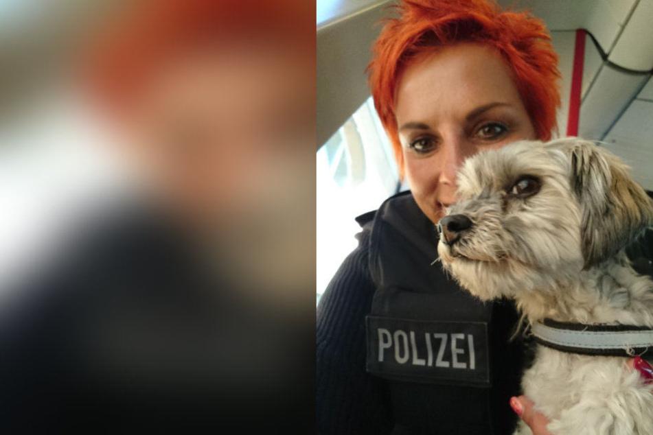 Die Hundedame war der Bundespolizei doch glatt ein Selfie wert.