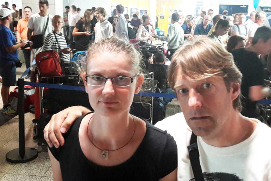 Auch sie sitzen auf Madeira fest: Axel Kiermeyer und Juliane Kiermeyer aus Hamburg.