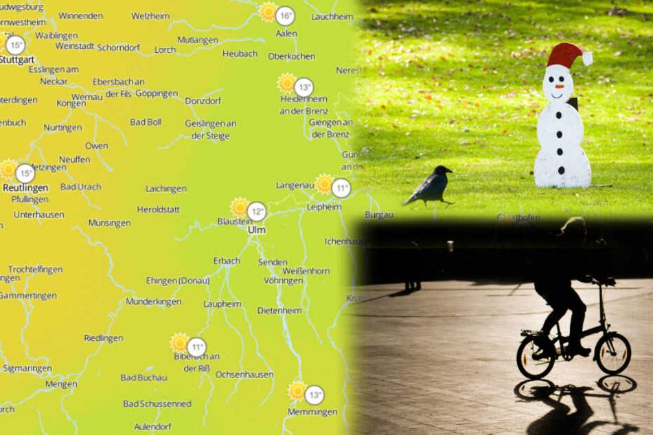 Am Wochenende strahlt die Sonne in Baden-Württemberg. (Bildcollage)