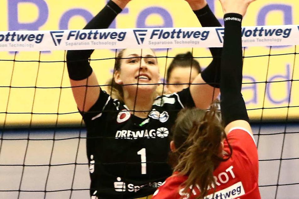 Barbara Wezorke (Nummer eins) machte in Vilsbiburg ein ganz starkes Spiel.