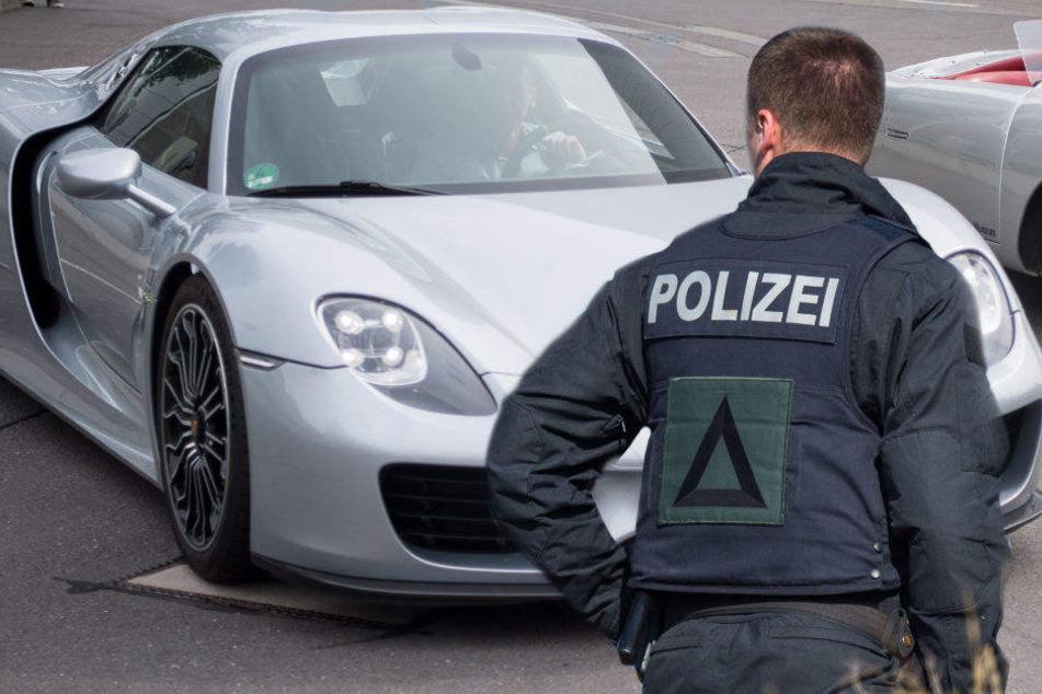 Als der Porschefahrer kontrolliert werden sollte, gab er Gas. (Symbolbild)