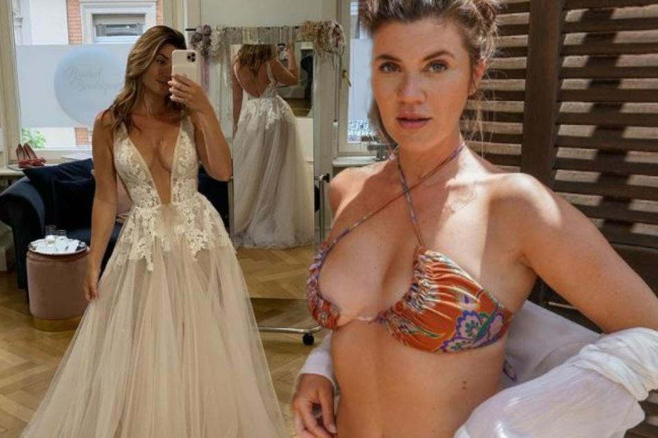 Ex-Bachelorette Nadine Klein im Planungs-Stress: Welches Hochzeitskleid soll es werden?