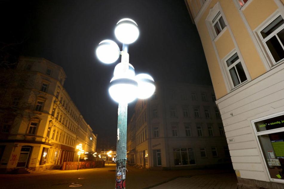 LED-Leuchten am Brühl.