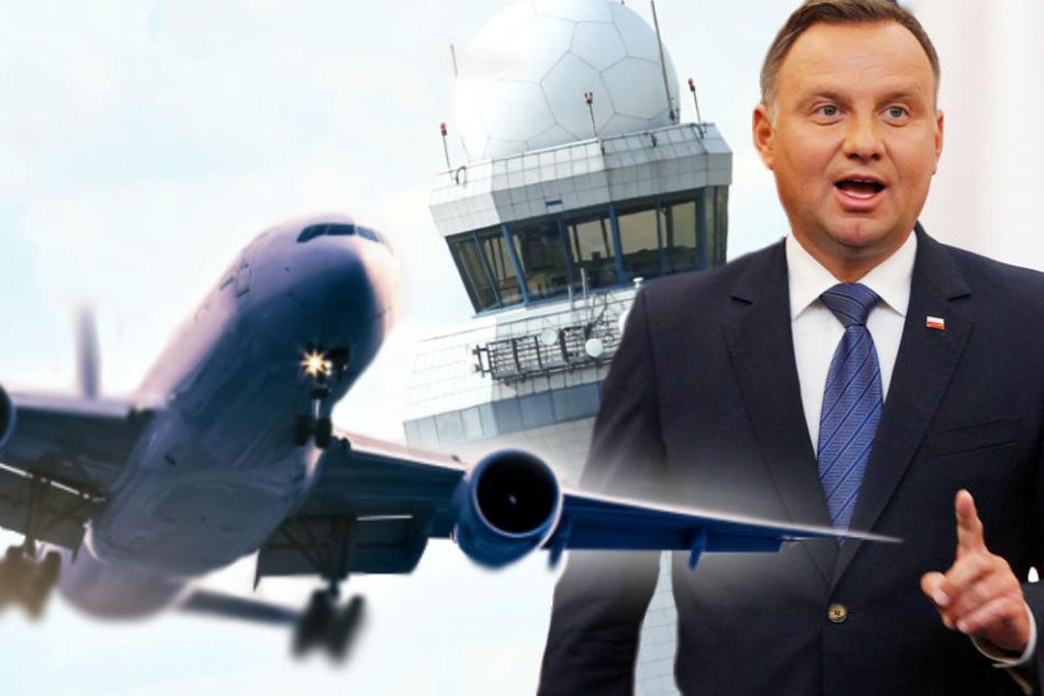 Andrzej Duda hat den notwendigen Vertrag für den Bau bereits unterzeichnet. (Bildmontage)