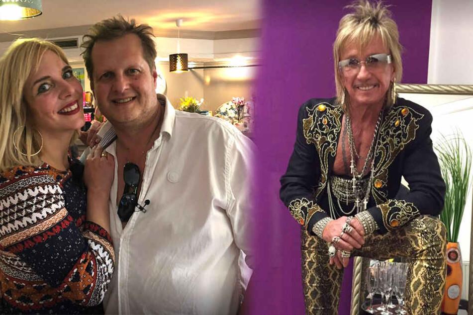 Jens Büchner (48, 2.v.lgemeinsam mit Gattin Daniela) lud zur Café-Einweihung. Bert Wollersheim (67) musste danach ins Krankenhaus