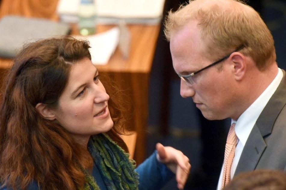 Kirsten Jahn mit SPD-Politiker Jochen Ott.