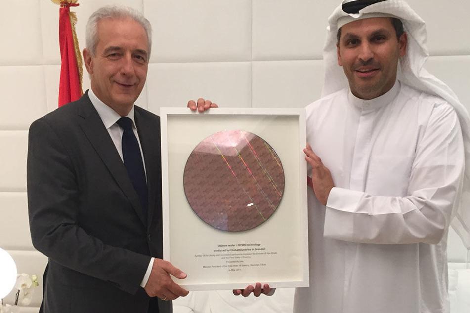 MP Tillich und Khaldoon al Mubarak trafen sich gestern in Abu Dhabi - nicht  zum ersten Mal.