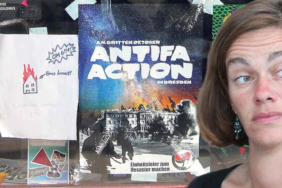 Abgeordnete Nagel findet Gewalt-Plakat zum Lachen
