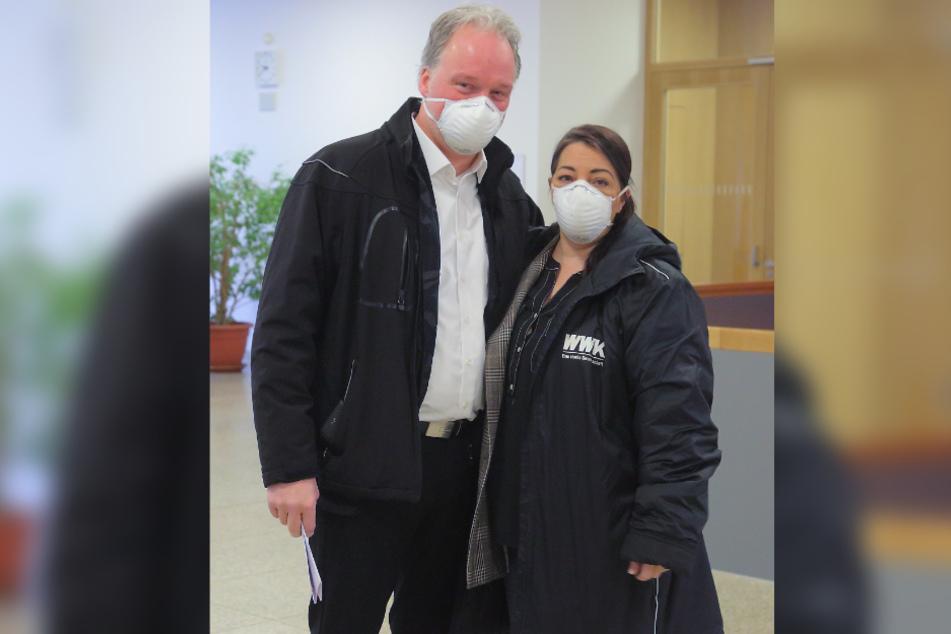 André Sarrasani (48) und Edit Slavova (43) erkannten den Angeklagten trotz fehlender Koteletten wieder.