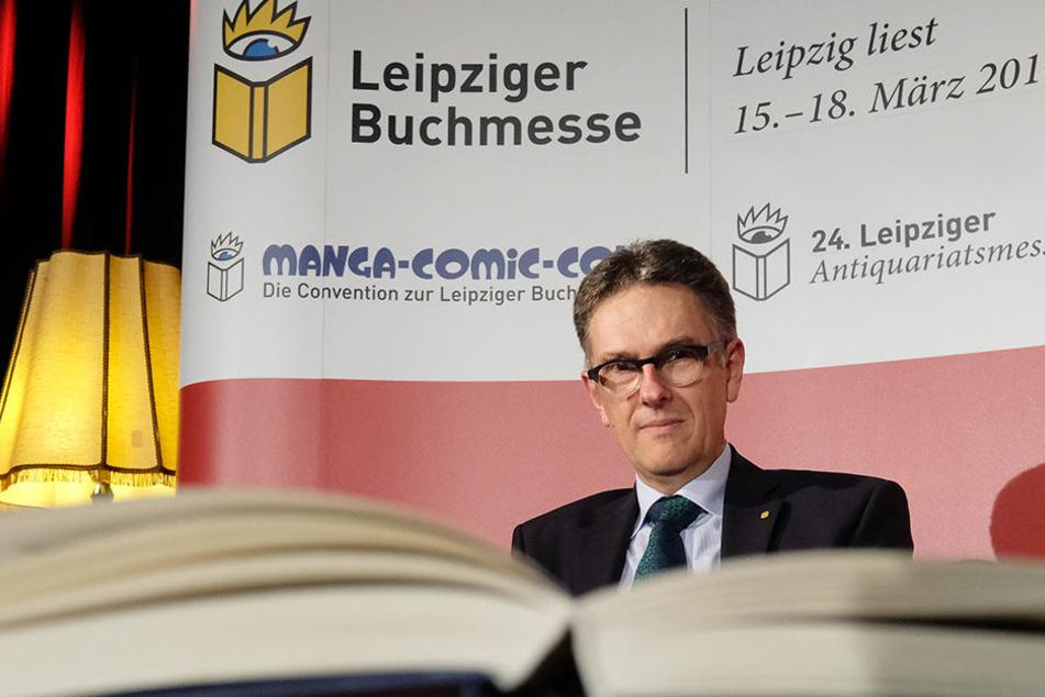 Buchmesse-Direktor Oliver Zille will klare Haltung zeigen.