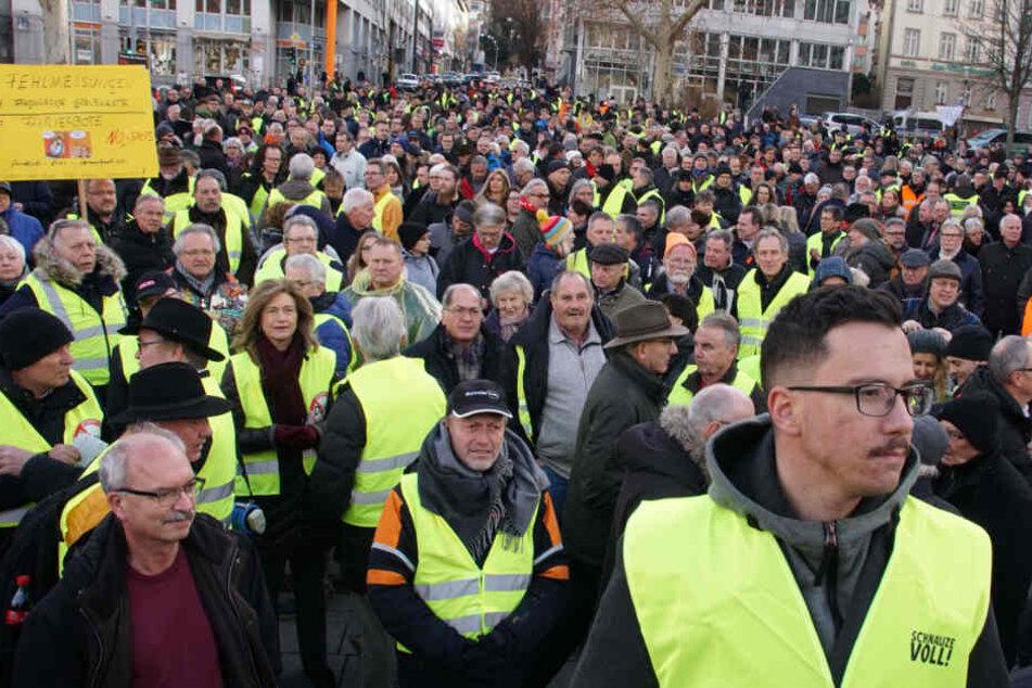 Tausende Menschen demonstrierten in der Vergangenheit bereits in Stuttgart gegen das Diesel-Fahrverbot.