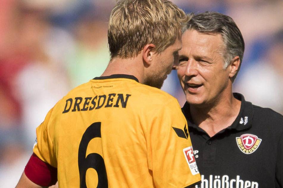 Marco Hartmann führt Dynamo als Kapitän aufs Feld.