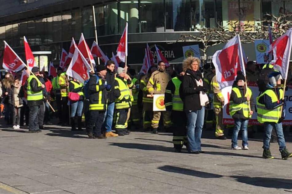 Die Gewerkschaft Verdi hatte zu der Demonstration aufgerufen.