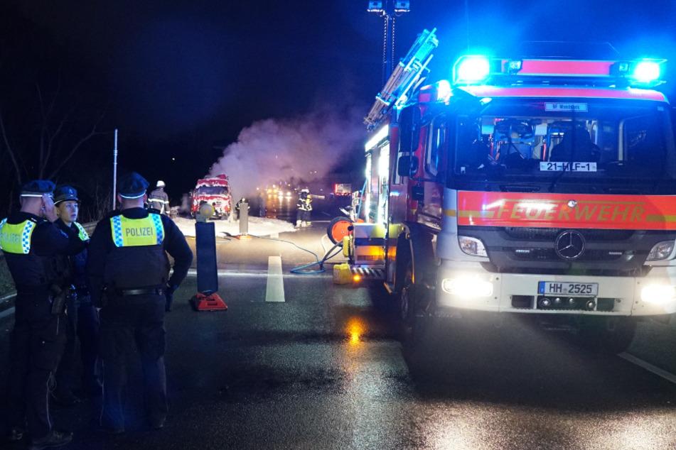 Die A1 musste für die Arbeiten rund eine Stunde gesperrt werden.