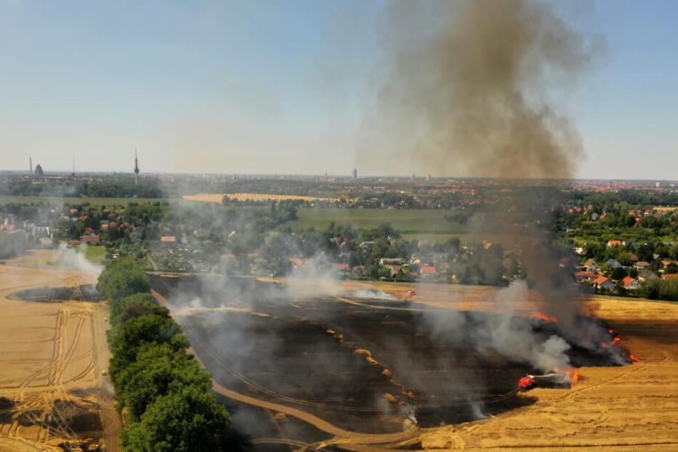 Mehrere Brände gleichzeitig! Feuerwehren um Leipzig im Dauereinsatz