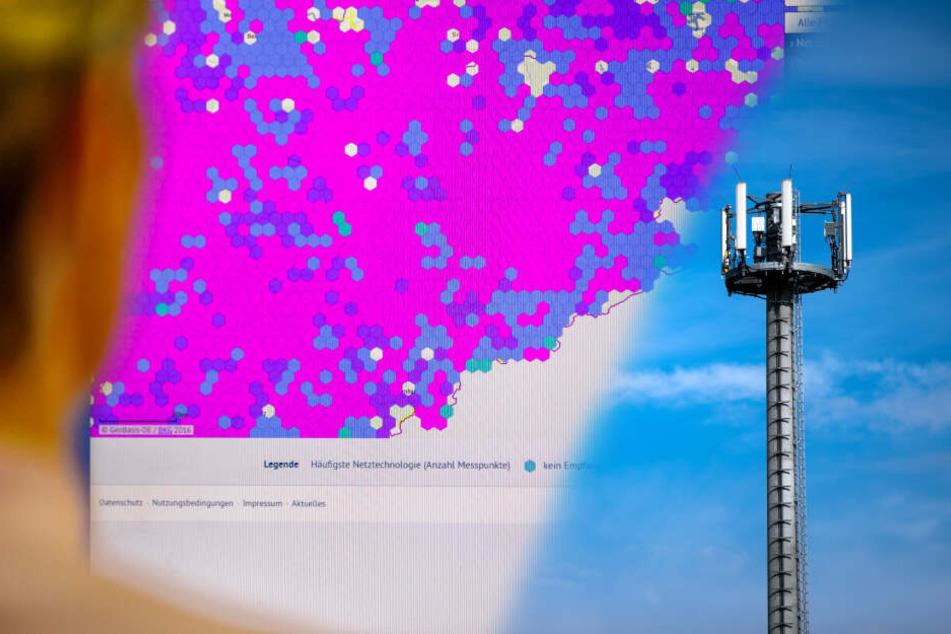 Erzgebirge, Nordsachsen, Lausitz: Neue Karte zeigt, wo es kein Handynetz gibt