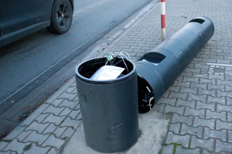 Systematisch wurden die Blitzer in Gernsheim umgefahren.