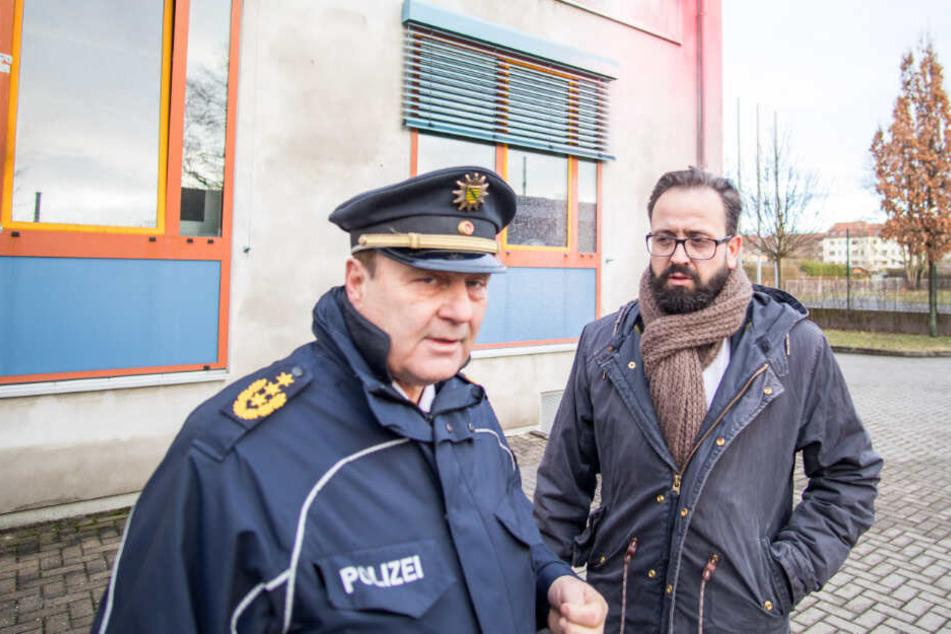 Justizminister Sebastian Gemkow (CDU, r.) und der ehemalige Leipziger Polizeichef Bernd Merbitz (63)– warum es Merbitz' Ermittler unterließen, nach dem Anschlag auf Gemkow in Connewitz Durchsuchungen durchzuführen, bleibt ein großes Rätsel des Falls.