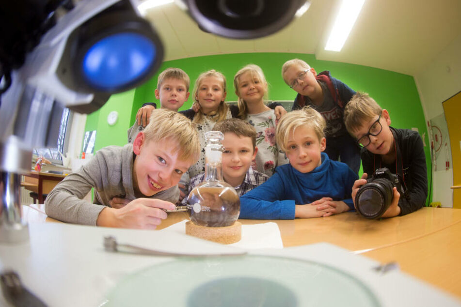 """Die Kids der Grundschule Gablenz räumten bei """"Jugend forscht"""" ab."""