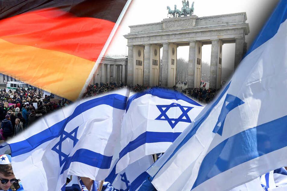 Israel-Gegner will Frau mit Flagge anzünden