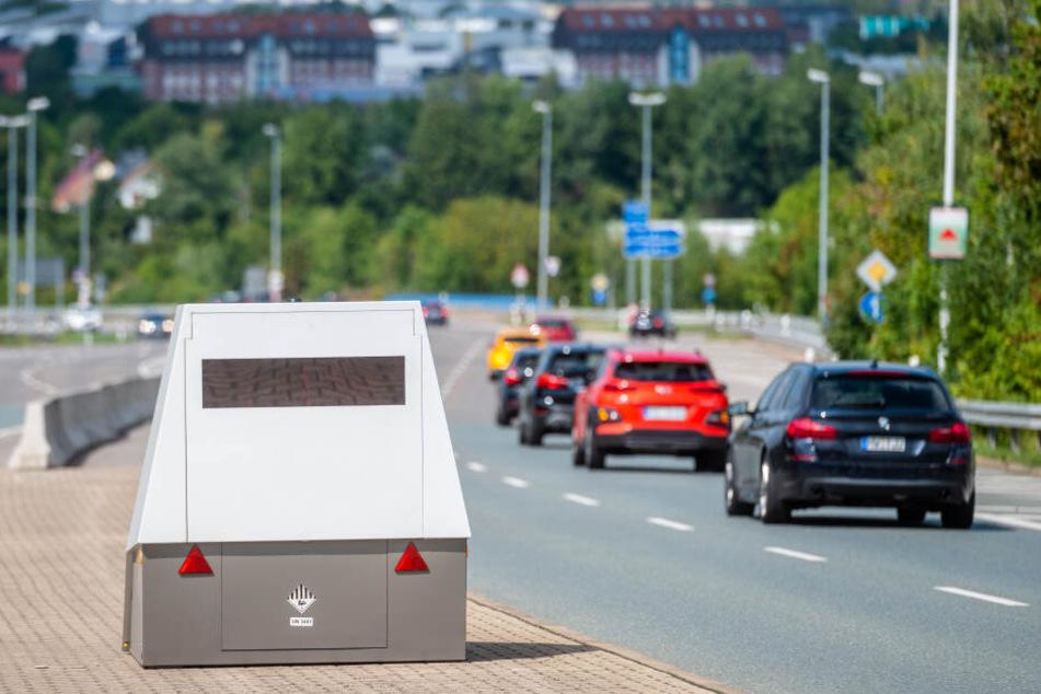 Seit dem 21. August steht der Chemnitzer Superblitzer wieder auf der Leipziger Straße.