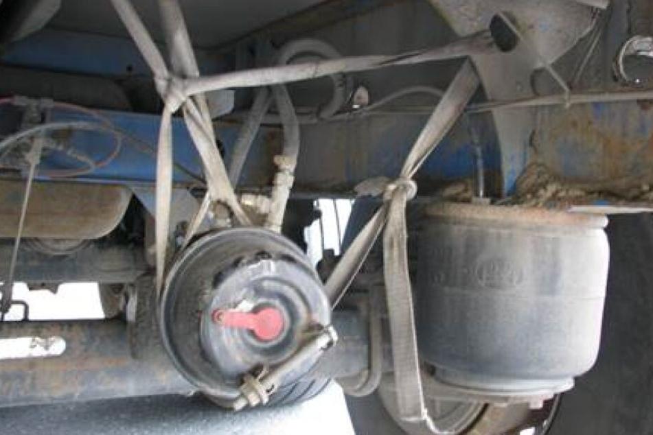 Die Weiterfahrt der maroden Lkw wurde untersagt.