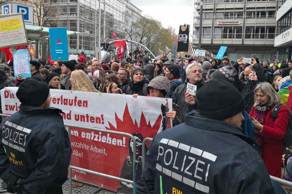 Großeinsatz der Polizei bei Gelbwesten-Protest in Stuttgart