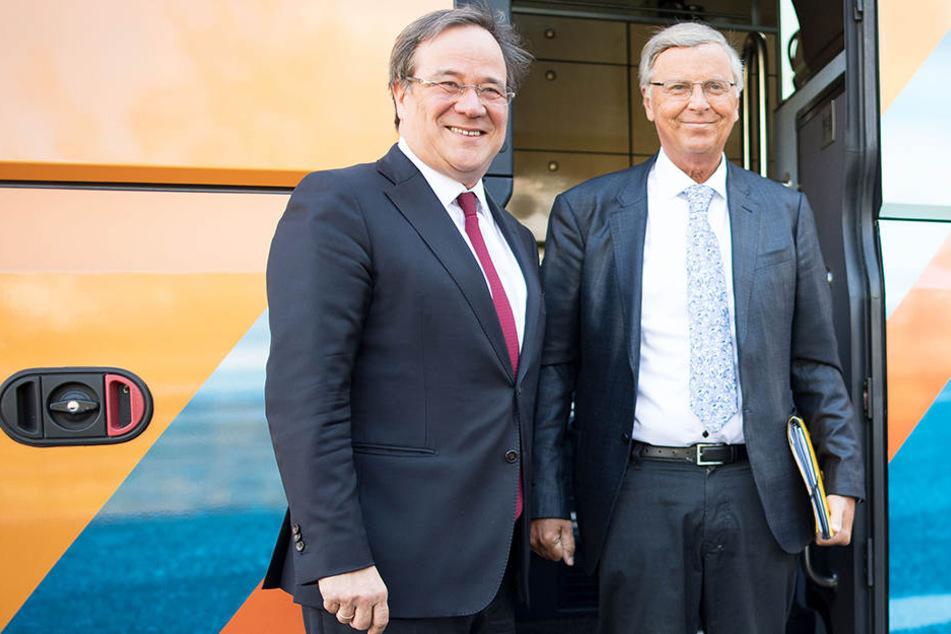 Wolfgangs Bosbach (re.) ist neuer Sicherheitsexperte von NRW-Spitzenkandidat Armin Laschet (beide CDU).
