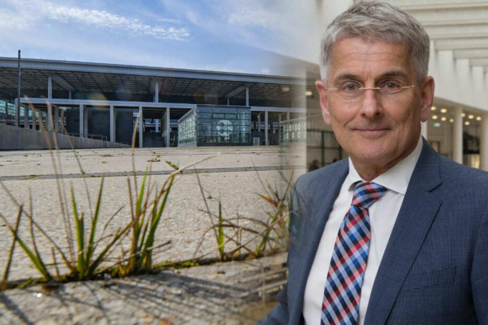 Beim geplanten Start des neuen Hauptstadtflughafens BER im Oktober 2020 könnte es aus Sicht des früheren Berliner Flughafenmanagers Elmar Kleinert eng werden. (Bildmontage)