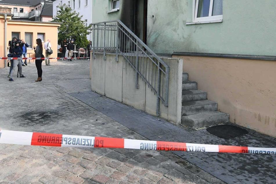 An einer Moschee in Dresden-Cotta wurde im Herbst 2016 ein Brandanschlag verübt.