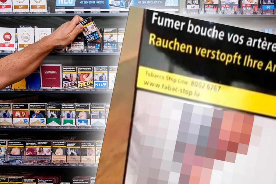 Mann geschockt, als er sieht, was da auf seiner Zigaretten-Packung abgedruckt wurde