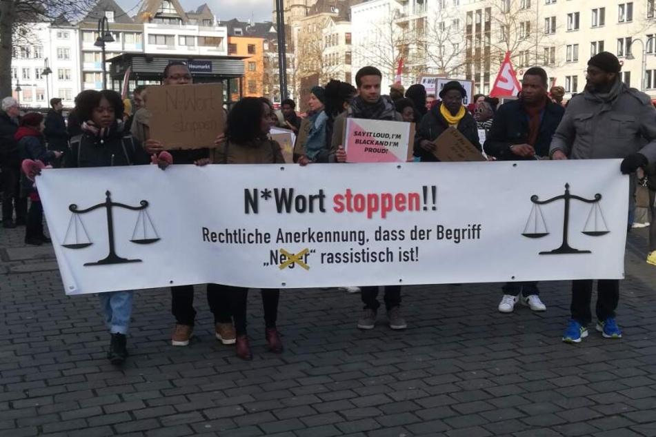 Die Demo gegen Rassismus in Köln.