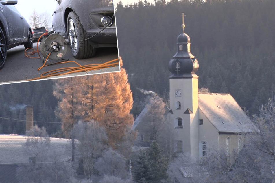Autobatterien machen schlapp: -14 Grad in Sachsen
