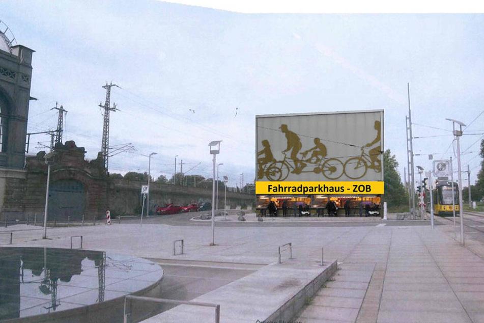 Am westlichen Wiener Platz soll zusätzlich ein Fahrradparkhaus gebaut werden.