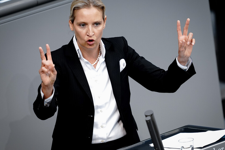 AfD-Vorsitzende Alice Weidel (42) wetterte am Freitag gegen Merkel.