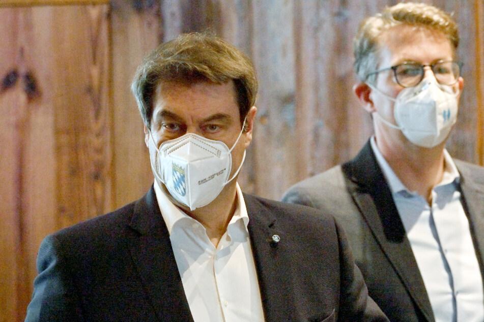 Markus Söder (54, l.), CSU-Parteivorsitzender und bayerischer Ministerpräsident, und Markus Blume (46), CSU-Generasekretär.