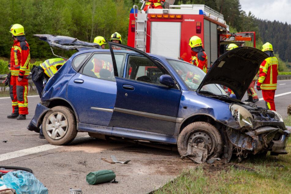 Tödlicher Unfall auf A73: Fahrer stirbt im Krankenhaus