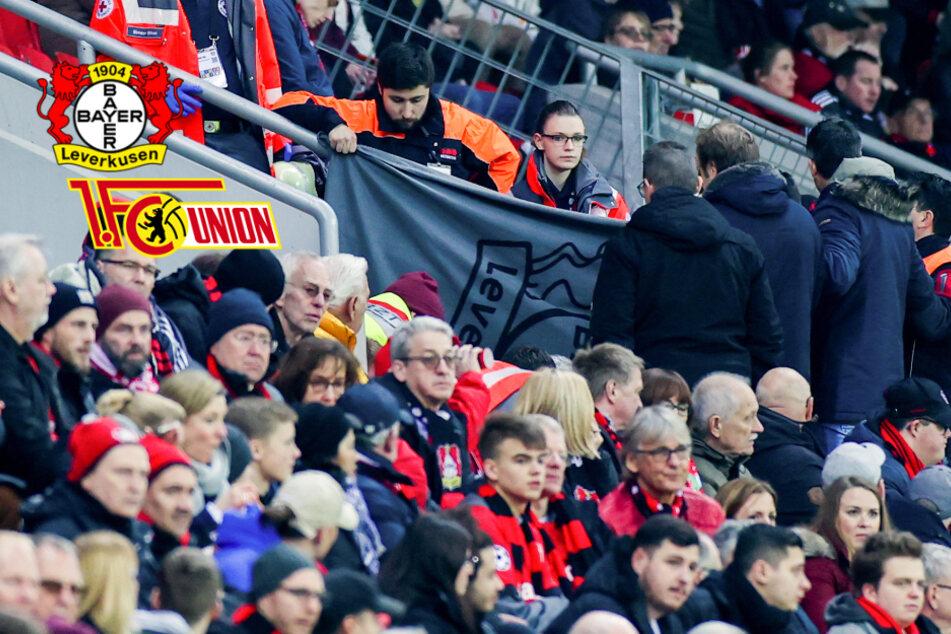 Schock beim DFB-Pokal-Spiel zwischen Leverkusen und Union: Zuschauer kämpft um sein Leben!
