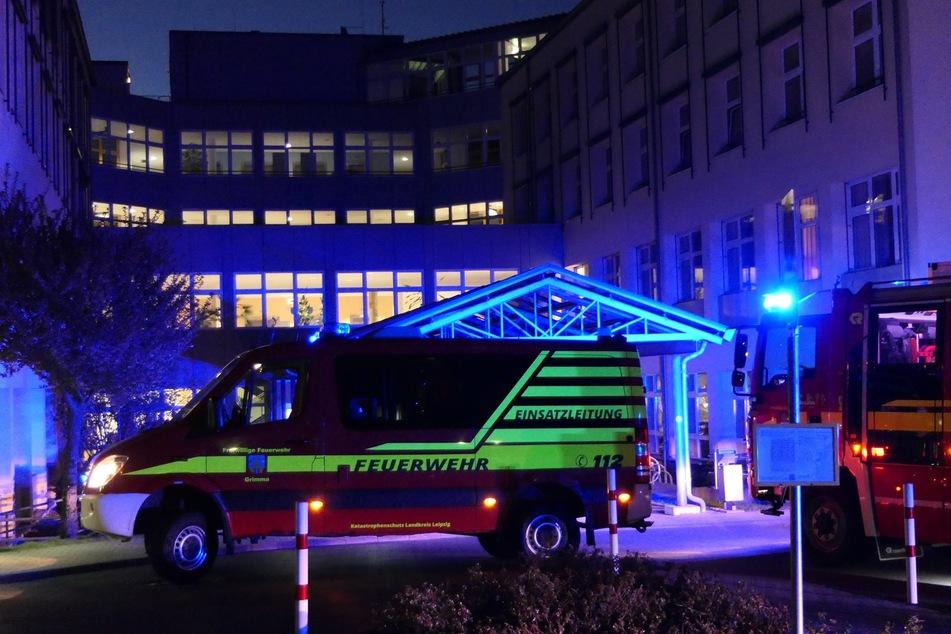 Feuerwehreinsatz am frühen Donnerstagmorgen am Klinikum Grimma.