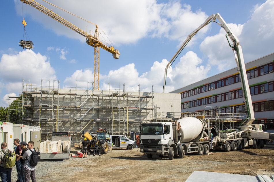 Am BSZ für Bau und Technik wird derzeit für fast sieben Millionen Euro eine Sporthalle gebaut.