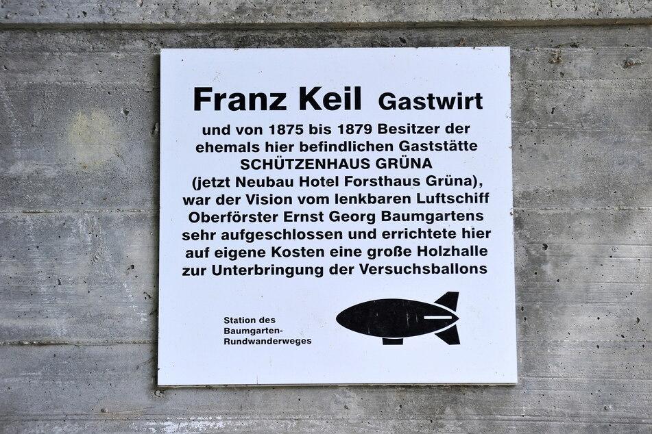 Für Franz Keil existiert in Grüna eine Gedenkplatte.