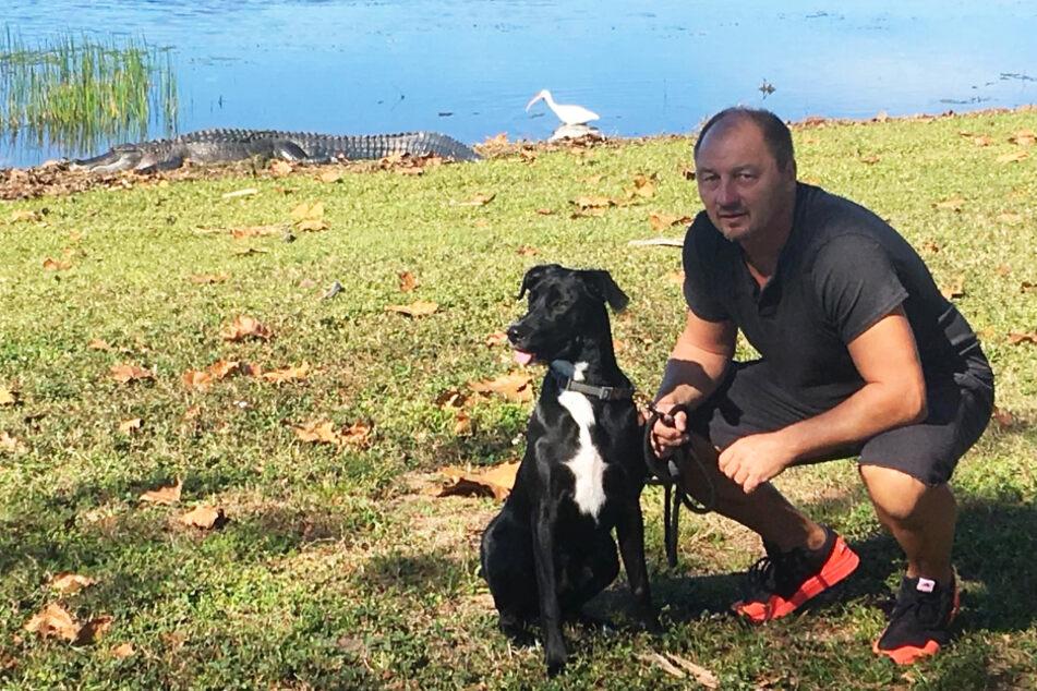 Dirk Zander mit Hund Cesar.