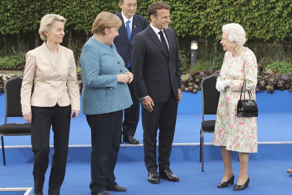 Mit 95 hat sie's noch drauf: Queen sorgt bei G7-Gipfel für Lacher