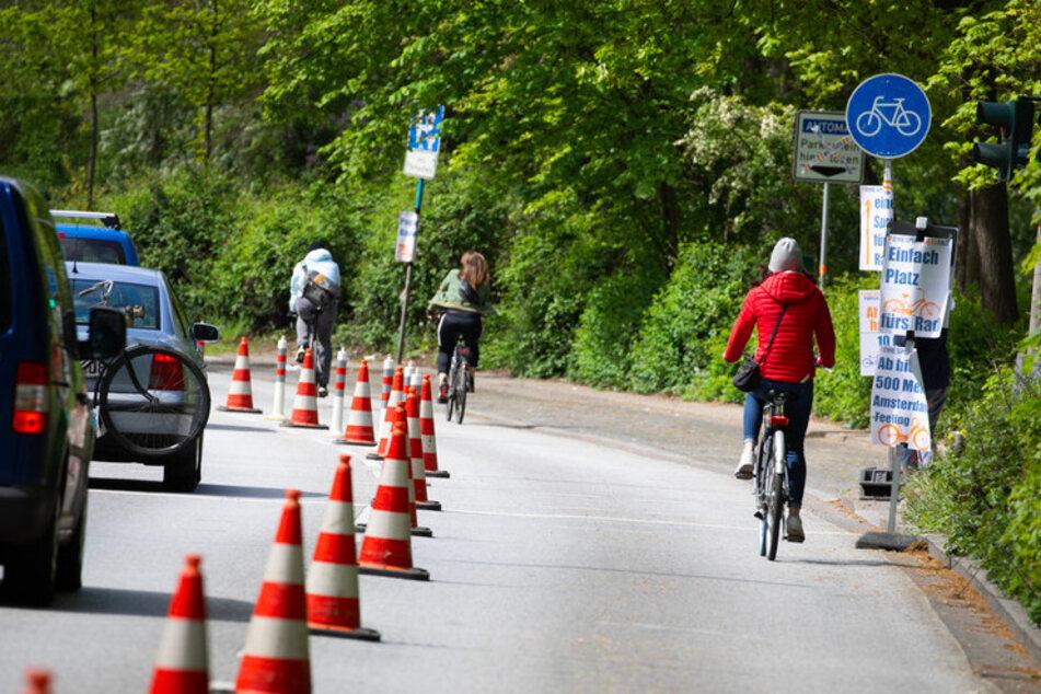Fahrrad statt Auto: Pop-up-Radwege jetzt auch in München