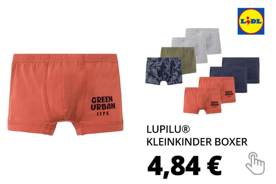 LUPILU® Kleinkinder Boxer Jungen, 4 Stück, mit Baumwolle und Elasthan