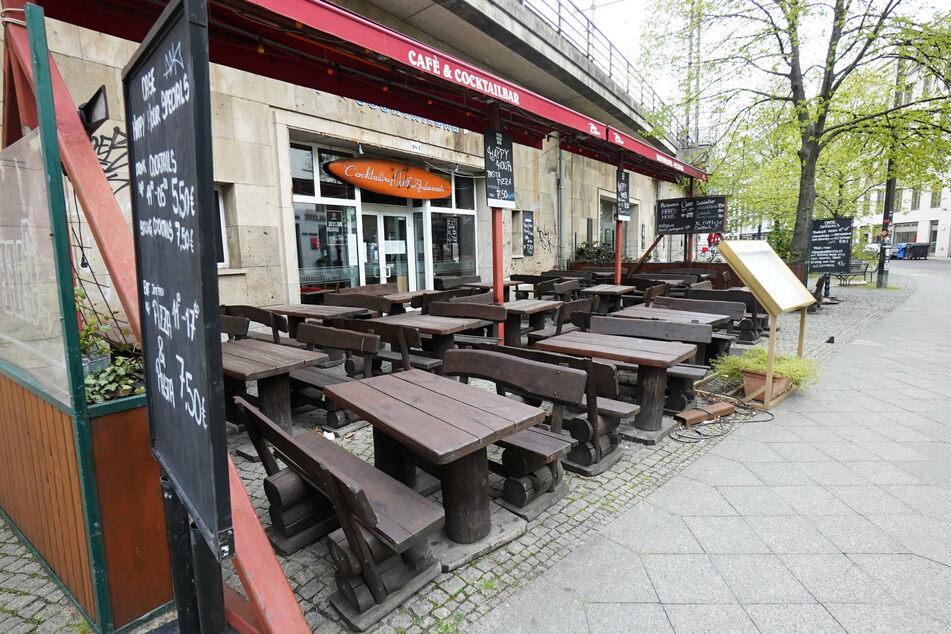 Ein Lokal in der Georgenstraße ist verschlossen.