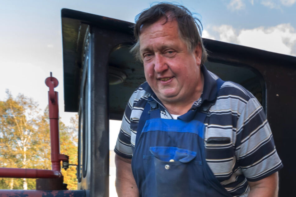 Matthias Münzner (62) interessiert sich für die Historie der alten Feldbahnen, möchte sie für die Nachwelt erhalten.