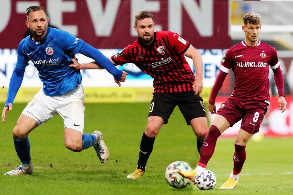 Dynamo, Rostock, TSV 1860 und Ingolstadt dicht gedrängt: Spannung an der Drittliga-Spitze!